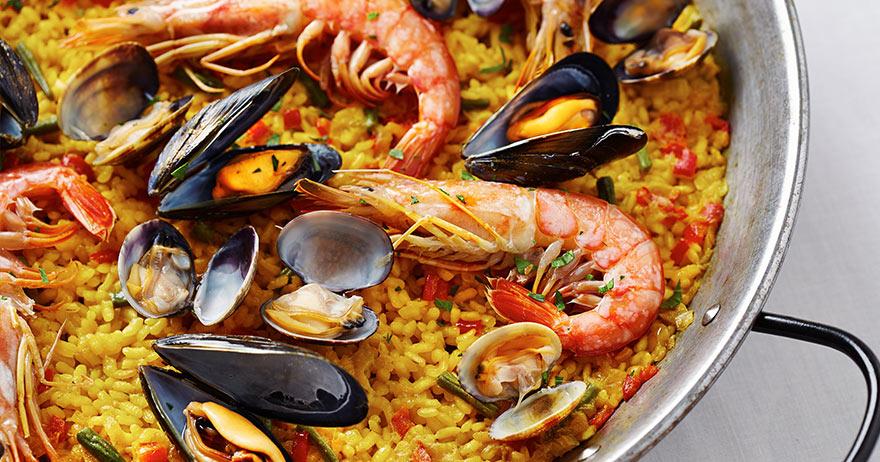Receita de Camburi: Paella de frutos do mar